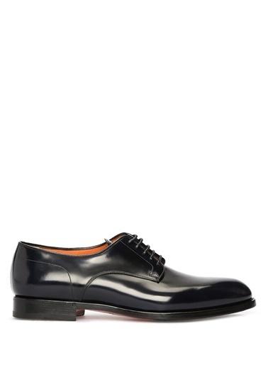 Santoni %100 Deri Bağcıklı Klasik Ayakkabı Mavi